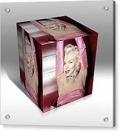 Marilyn Monroe Diamonds Are A Girls Best Friend Acrylic Print by Marvin Blaine