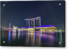 Marina Bay Sands And The Artscience Museum In Singapore Acrylic Print