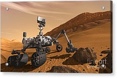 Mars Rover Curiosity, Artists Rendering Acrylic Print by NASA/Science Source