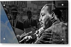 Martin Luther King Collection Acrylic Print by Marvin Blaine