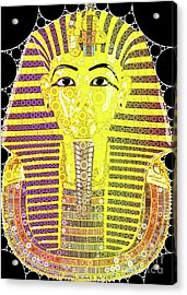 Mask Of Tutankhamun, Pop Art By Mb Acrylic Print