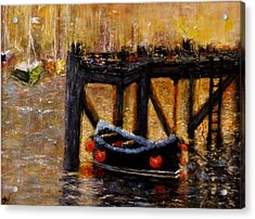 Acrylic Print featuring the painting Memories.. by Cristina Mihailescu