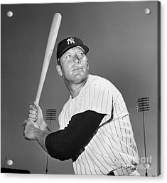 Mickey Mantle (1931-1995) Acrylic Print by Granger