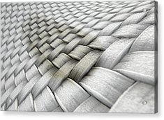 Micro Fabric Weave Stain Acrylic Print by Allan Swart