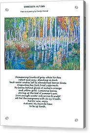 Minnesota Autumn Acrylic Print