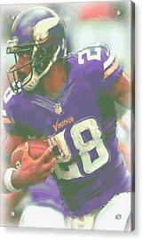 Minnesota Vikings Adrian Peterson Acrylic Print by Joe Hamilton