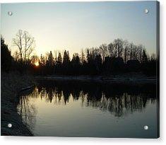 Mississippi River Sunrise Reflection Acrylic Print by Kent Lorentzen