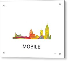 Mobile Alabama Skyline Acrylic Print