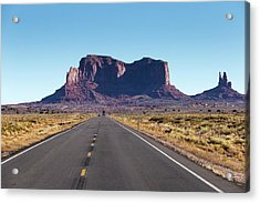 Acrylic Print featuring the photograph Monument Valley National Park In Arizona, Usa by Josef Pittner
