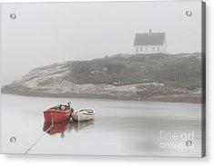 Moody Harbor Acrylic Print