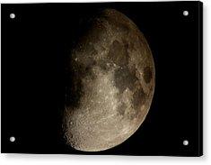 Moon Acrylic Print by George Leask