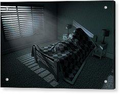 Moonlight Sleep In Acrylic Print by Allan Swart