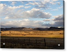 Acrylic Print featuring the photograph Mountain Meadow And Hay Bales In Grand County by Carol M Highsmith