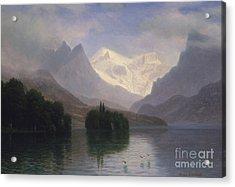 Mountain Scene Acrylic Print by Albert Bierstadt