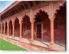 Mughal Architecture, Agra, India Acrylic Print by Nila Newsom