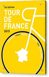 My Tour De France Minimal Poster Acrylic Print by Chungkong Art