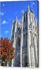 Acrylic Print featuring the photograph National Cathedral by Mitch Cat