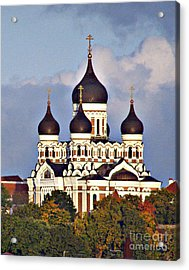 Nevsky Cathedral Estonia Acrylic Print by Louise Peardon
