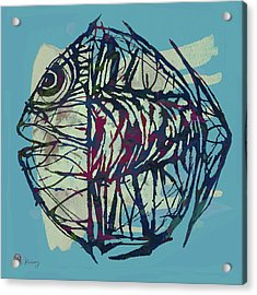 New Pop Art Tropical - Fish Poster Acrylic Print