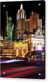 New York New York Casino Acrylic Print by James Marvin Phelps