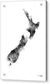 New Zealand Map Acrylic Print