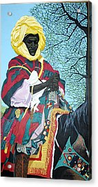 Acrylic Print featuring the painting Nigerian On Horseback by Bernard Goodman