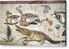 Nile Flora And Fauna, Roman Mosaic Acrylic Print by Sheila Terry