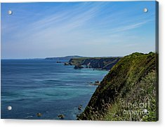 Acrylic Print featuring the photograph North Coast Cornwall by Brian Roscorla