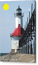 North Pier St Joseph Michigan Acrylic Print