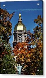 Notre Dame's Golden Dome Acrylic Print by Mountain Dreams