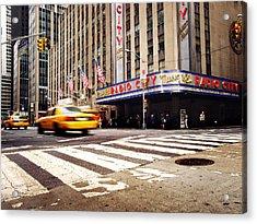 Nyc Radio City Music Hall Acrylic Print by Nina Papiorek