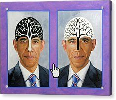 Obama Trees Of Knowledge Acrylic Print by Richard Barone