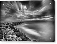 Oceanside Harbor Jetty 3 Acrylic Print by Larry Marshall