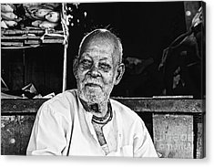 Old Age Acrylic Print by Bobby Mandal