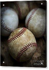 Old Baseball Acrylic Print by Edward Fielding
