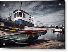Old Fishing Boat Acrylic Print by Carlos Caetano