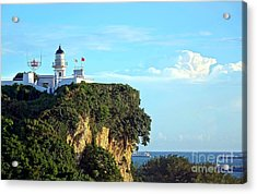 Acrylic Print featuring the photograph Old Lighthouse Overlooking Kaohsiung Harbor by Yali Shi