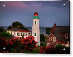 Acrylic Print featuring the photograph Old Point Comfort Lighthouse by Williams-Cairns Photography LLC