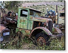 Old Truck Acrylic Print by Anthony Jones