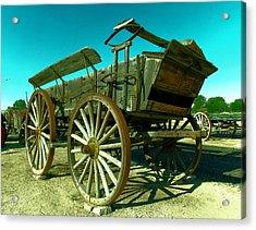 Old Wagon Acrylic Print by Jeff Swan