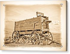 Old West Wagon  Acrylic Print