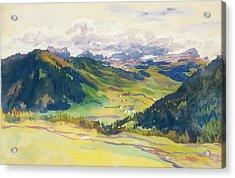Open Valley - Dolomites Acrylic Print