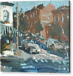 Acrylic Print featuring the painting Original Contemporary Urban Painting Featuring Richmond Virginia by Robert Joyner