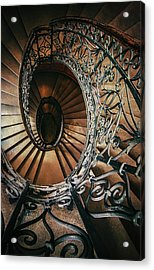 Acrylic Print featuring the photograph Ornamented Spiral Staircase by Jaroslaw Blaminsky