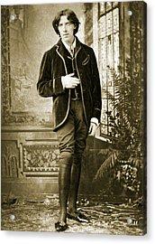 Oscar Wilde Acrylic Print by Napoleon Sarony