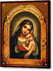 Oval Madonna Acrylic Print