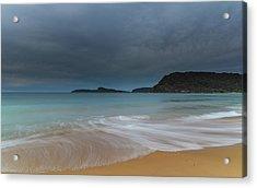 Overcast Cloudy Sunrise Seascape Acrylic Print