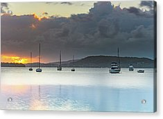 Overcast Sunrise Waterscape Acrylic Print