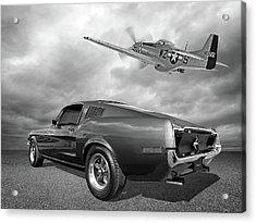 p51 With Bullitt Mustang Acrylic Print