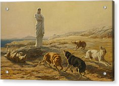 Pallas Athena And The Herdsman's Dogs Acrylic Print by Briton Riviere
